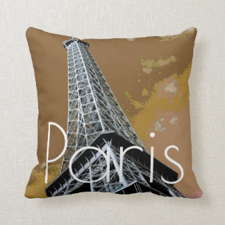 Love & Romance City of Paris Eiffel Tower France Throw Pillow
