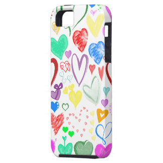 Love, Romance, Hearts - Red Blue Pink Green iPhone 5 Cover