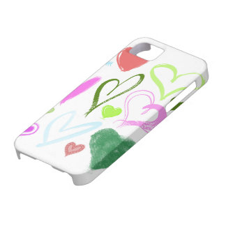 Love, Romance, Hearts - Red Blue Pink Green iPhone 5 Covers