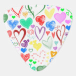 Love, Romance, Hearts - Red Blue Pink Green Pick