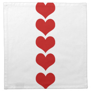 Love, Romance, Hearts - Red Cloth Napkins