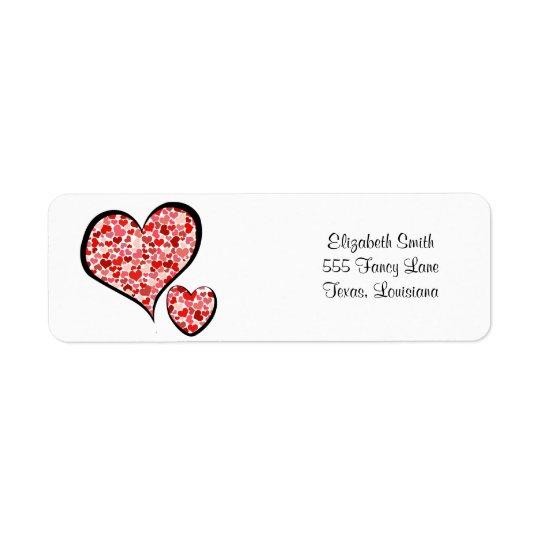 Love, Romance, Hearts - Red White Label
