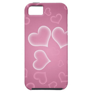 Love, Romance, Hearts - White Purple Pink iPhone 5 Cases