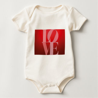Love Romance Red Pink Baby Bodysuit