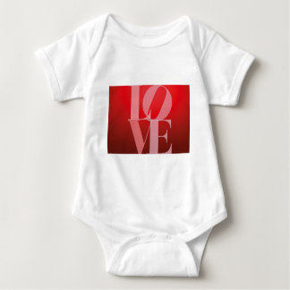 Love Romance Red Pink Infant Creeper