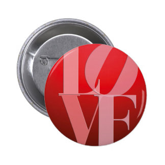 Love Romance Red Pink Pinback Button