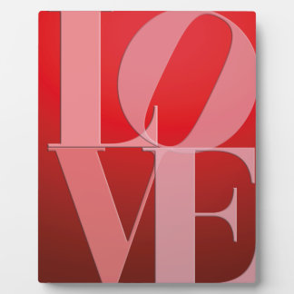 Love Romance Red Pink Plaque