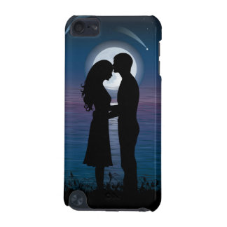 Love Romance Silhouette Couple On The Lake Coast iPod Touch (5th Generation) Case