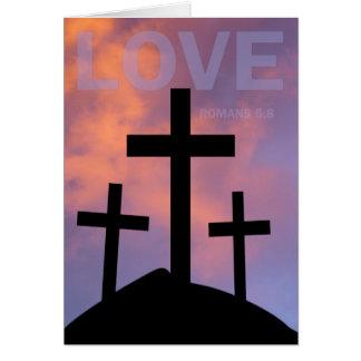 LOVE – Romans 5:8 Card