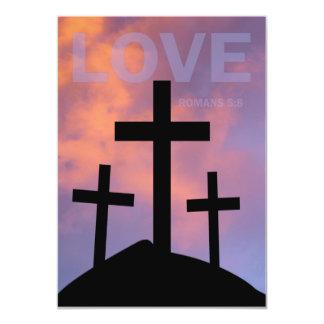 LOVE – Romans 5:8 5x7 Paper Invitation Card