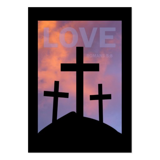 LOVE – Romans 5:8 Tract Cards / Large Business Cards (Pack Of 100)