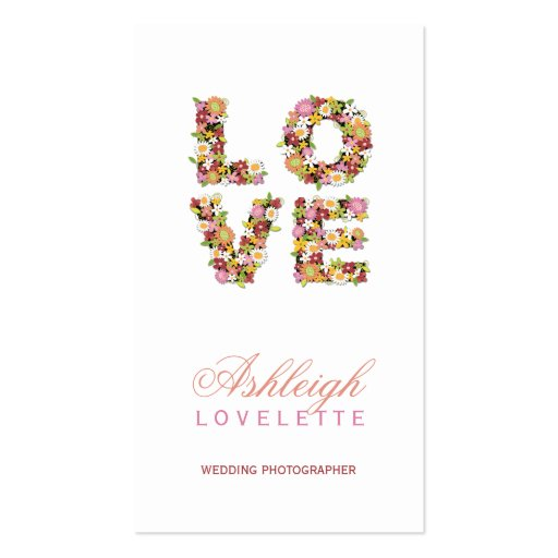 LOVE Romantic Blooms Spring Flowers Profile Card Business Card