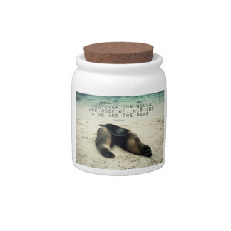 Love romantic couple quote beach Emily Bronte Candy Jars