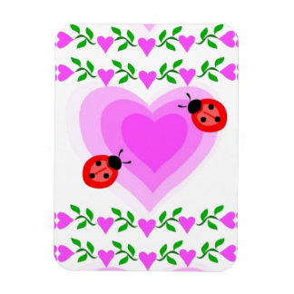 love romantic heart hearts lady bug Paper clip Art Magnet