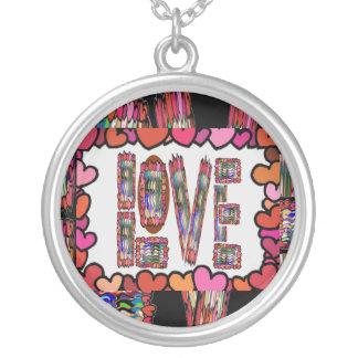 Love - Romantic Inscription Silver Plated Necklace