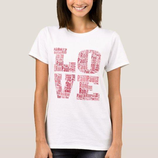Love Ron Paul (Pink) T-Shirt