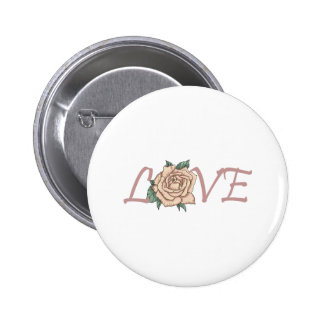 LOVE ROSE PINBACK BUTTONS