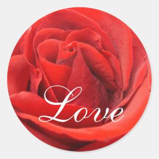 Love Rose Classic Round Sticker