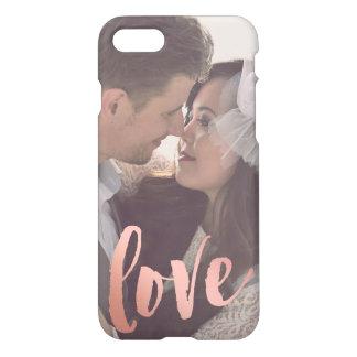 Love | Rose Gold | Custom Photo iPhone 7 Case