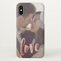 Love | Rose Gold | Custom Photo iPhone X Case