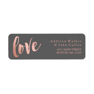 Love | Rose Gold & Gray | Custom Name Label