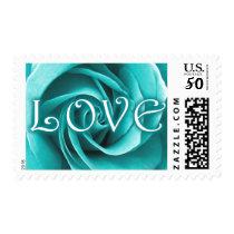 LOVE : rose : Postage