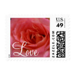 LOVE  Rose Postage Stamps