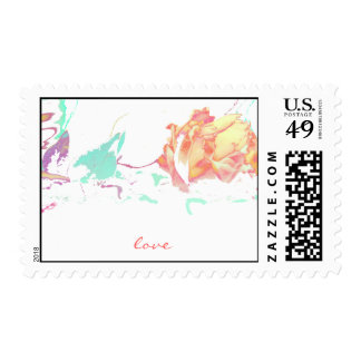 love rose stamp