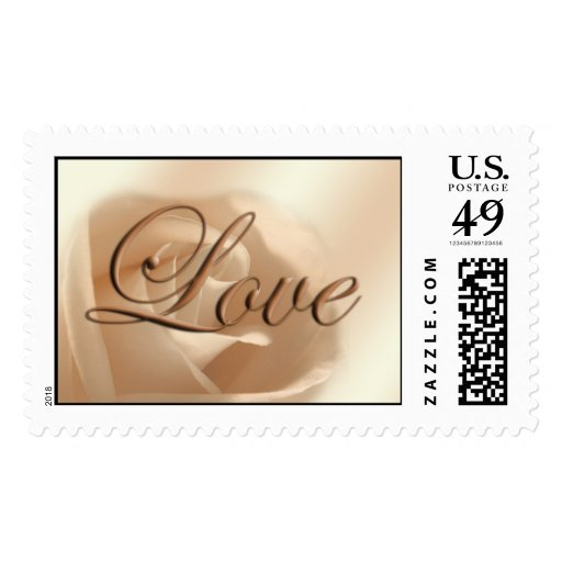Love Rose Wedding RSVP Save The Date Weddings Stamp