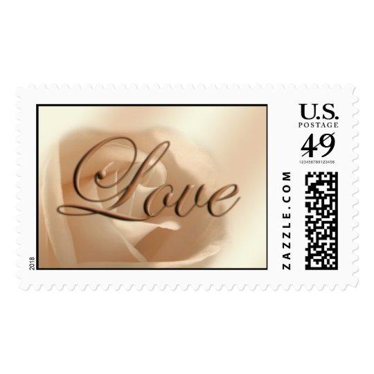 Love Rose Wedding RSVP Save The Date Weddings Stamp