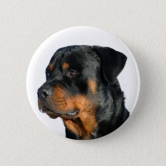 Love Rottweiler Black & Brown Puppy Dog Pin Button
