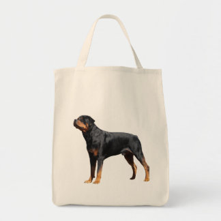 Love Rottweiler Puppy Dog Canvas Tote Bag