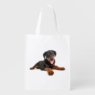 Love Rottweiler Puppy Dog Grocery Grocery Bag