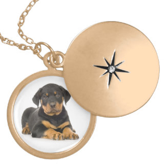 Love Rottweiler Puppy Dog Pendant Necklace