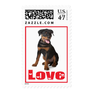 Love Rottweiler Puppy Dog US Postage Stamps