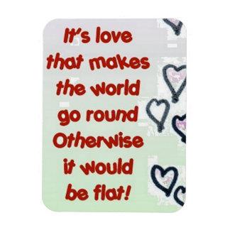 love round flat fun magnet