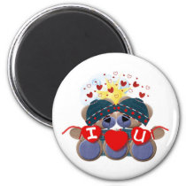 love, round, magnet, home, office, customize, birthday, wedding, children, Ímã com design gráfico personalizado