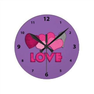 """Love"" Round (Medium) Wall Clock"