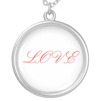 LOVE ROUND PENDANT NECKLACE