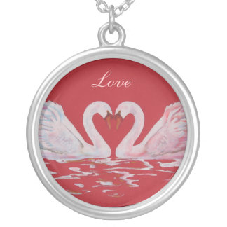 Love Round Pendant Necklace