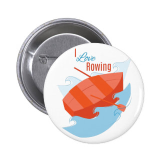Love Rowing Pinback Buttons