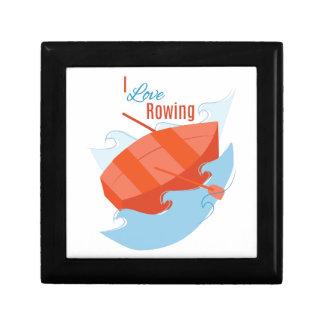 Love Rowing Trinket Boxes