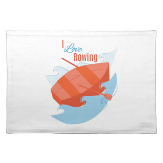 Love Rowing Cloth Place Mat
