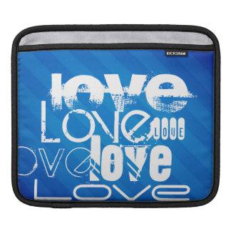 Love; Royal Blue Stripes iPad Sleeve