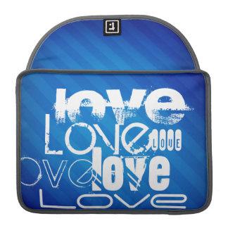 Love; Royal Blue Stripes Sleeve For MacBooks