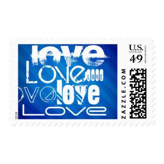 Love; Royal Blue Stripes Postage