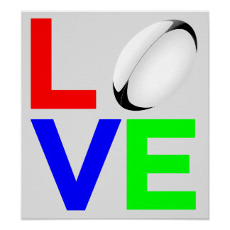 Love Rugby - Art Print On Canvas