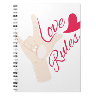 Love Rules Spiral Notebook