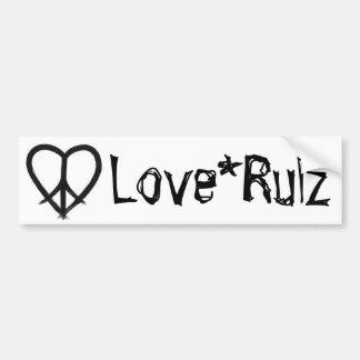 Love*Rulz - HE(ART) of Peace Bumper Sticker