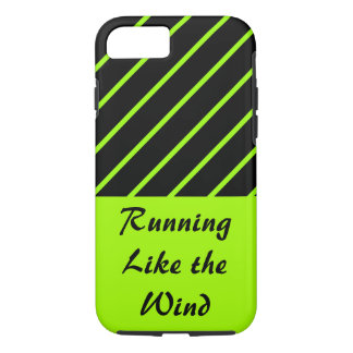 Love Running Lime Black Sporty Gym CricketDiane iPhone 8/7 Case